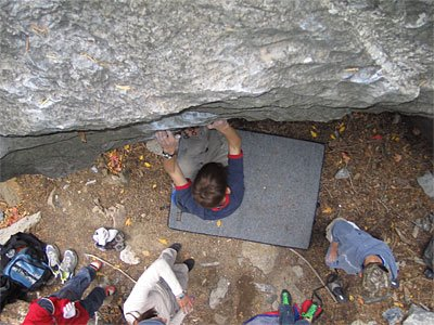 Bouldering in American Fork Canyon