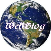la palabra webblog escrita sobre el universo