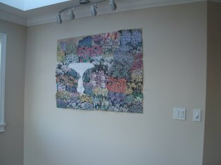 Garden painting - previewing paper layout on wall