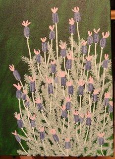 Lavendula stoechas garden painting