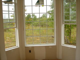 View from the dining room's bay window