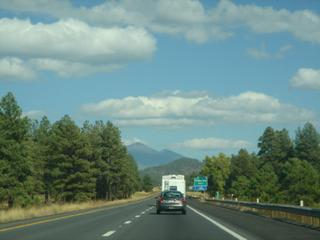 Driving to Flagstaff, AZ