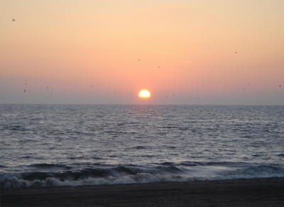 Pacific Ocean Sunset, taken at farewell bonfire, 9/2/05