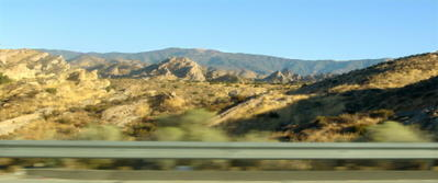 San Andreas Fault as seen from the 14 Freeway, 8/28/05