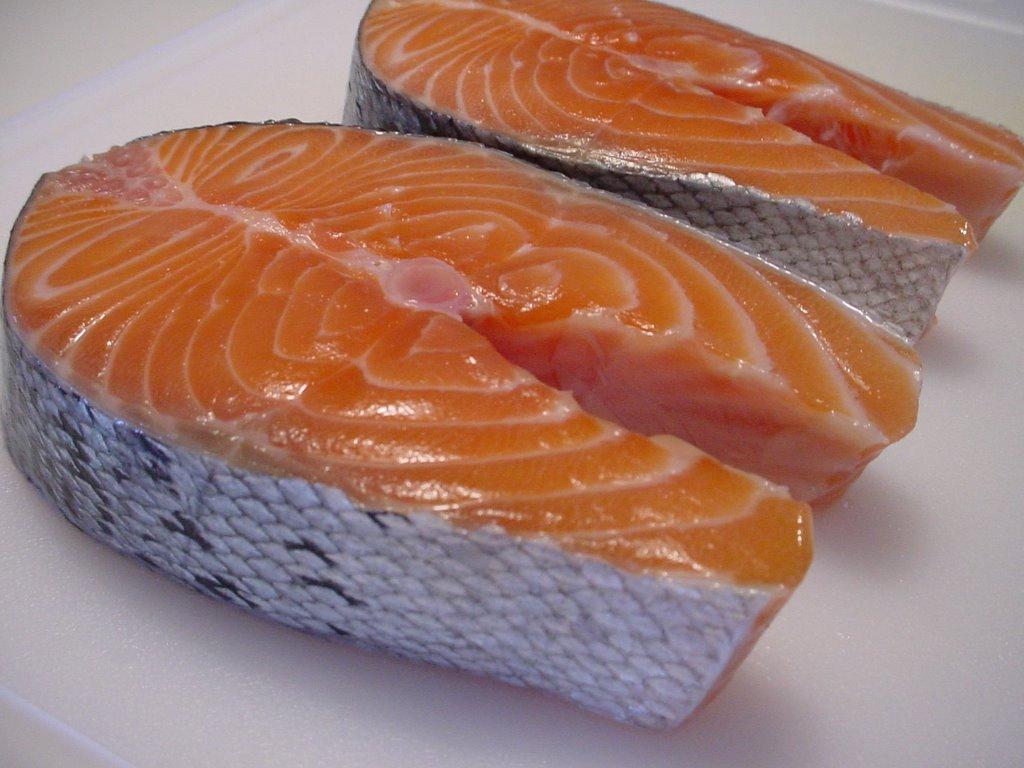 Salmon Steak Cooked