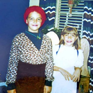 little girls in costumes