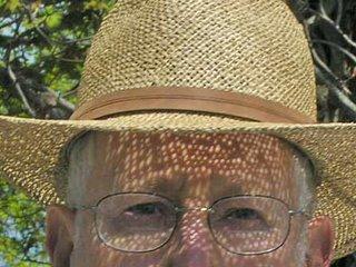 man wearing straw hat