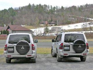 pair of SUVs