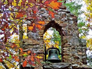 leaves and bell tower