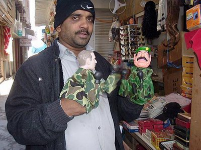 man with puppets