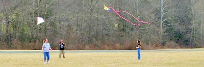 people with kites