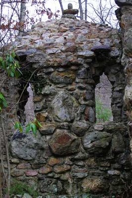 stone wall with two windows