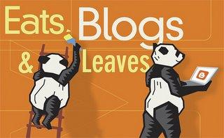 Osos panda colgando carteles