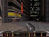 Duke Nukem 3D, a popular old DOS game which can be run on your Pocket PC.