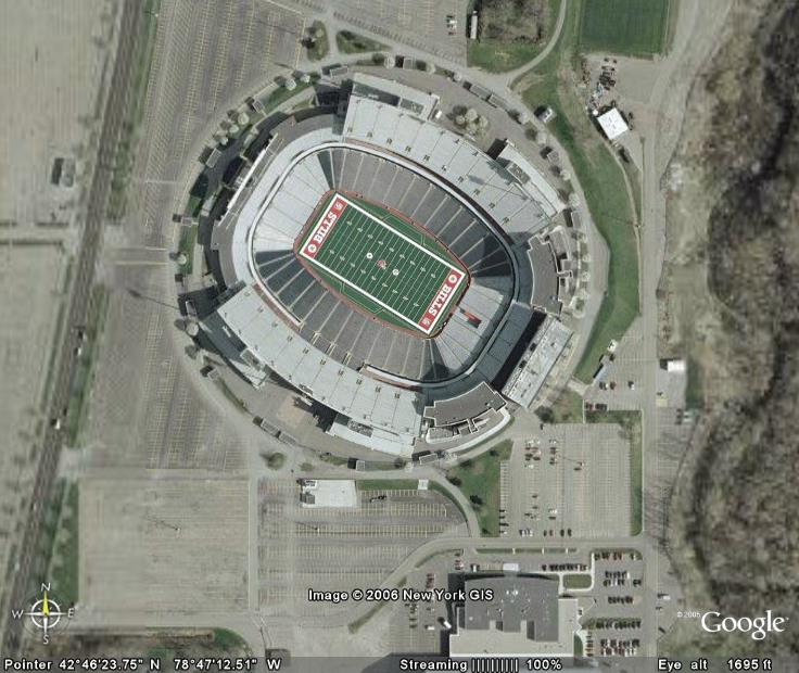 Football Stadiums Via Google Earth From The Gonzo
