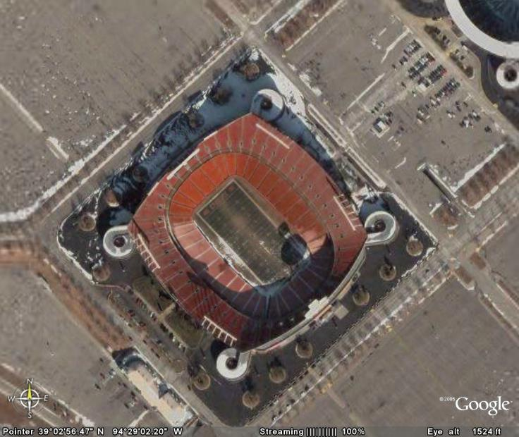 From The Gonzo Football Stadiums Via Google Earth