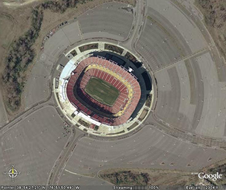 link back for this post is http inorganicallygonzo blogspot com 2006 02 football stadiums via google earth html