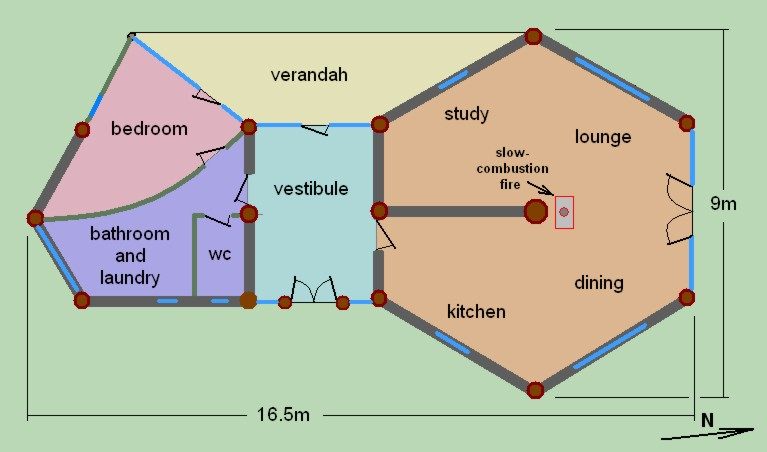 Hexagon Houses Plans House Interior