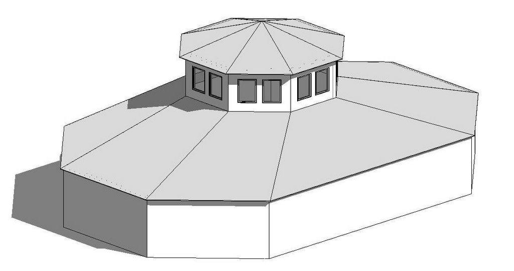 Revit Oped A Roof Massing An Octagonal Blend