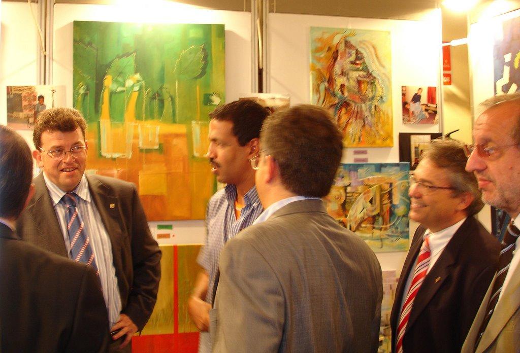 Pintores saharauis exposici n pintura saharaui de fadel jalifa al y mohamed mouloud en lleida - Pintores en lleida ...