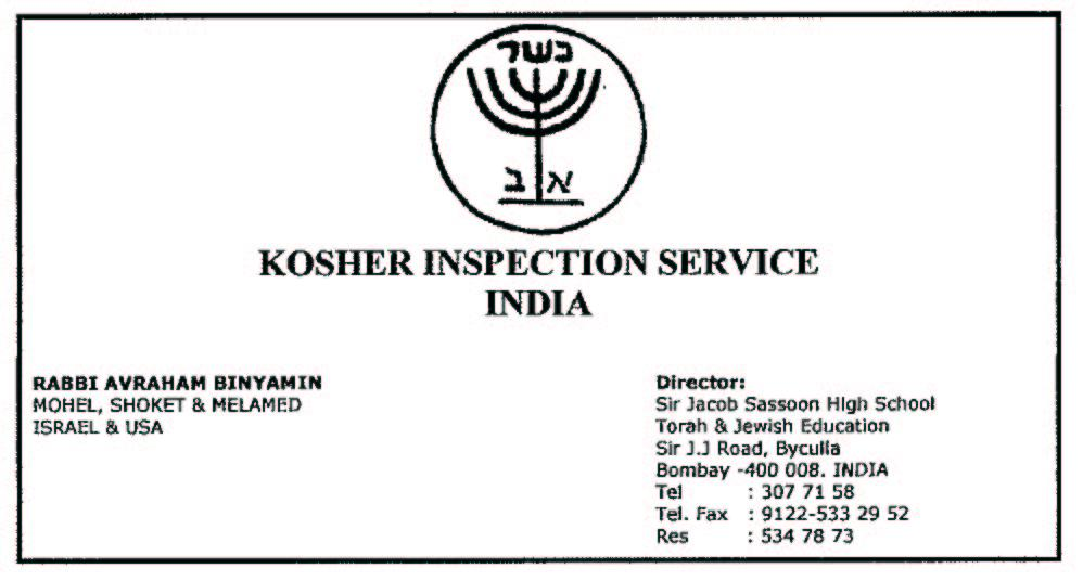 Kosher Epicurean Kosher Inspection Service India