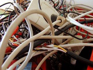 conjunto de cables de colores