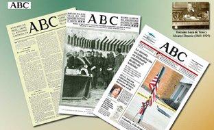 Imagen de tres periódicos de ABC donde se aprecia su evolución
