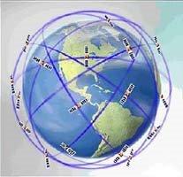 La Tierra rodeada de satélites
