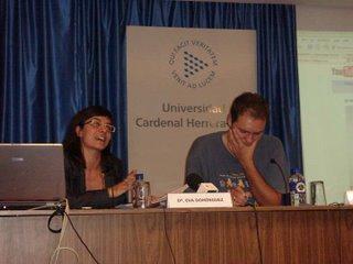 Eva Domínguez en un momento de la conferencia