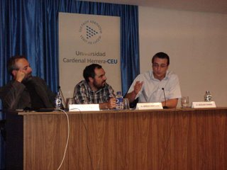 José Cervera y Adriano Morán en las conferencias