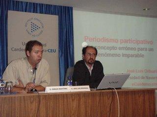 José Luis Orihuela en las conferencias del CEU