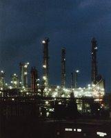 Rafinerija Nafte Pančevo noću