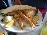Seafood at the top of the mountain
