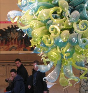 Chihuly, dusted once a year with a cherry picker