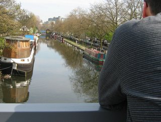 The canal from the bridge at the Waterway at Formosa Street