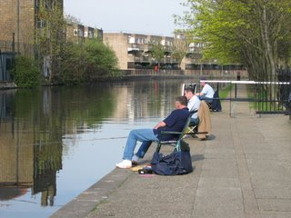 Fishing in Regent's Canal