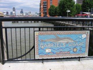 Coin Street Mural, Gabriel's Wharf, London South Bank