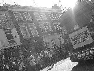 Western Union's float at Notting Hill Carnival