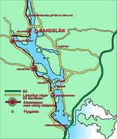 Kartbild över Sandslån