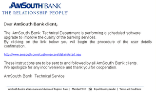 Amsouth bank phishing