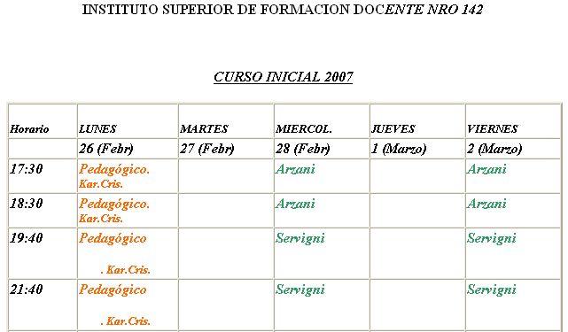 Instituto superior de formacion docente n 142 noviembre 2006 for Instituto formacion docente