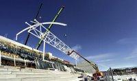 Nye Fredrikstad Stadion under oppføring
