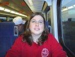 Me on train to Dallas Stars Hockey Game!
