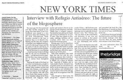 Refugio Antiaereo en el New York Times
