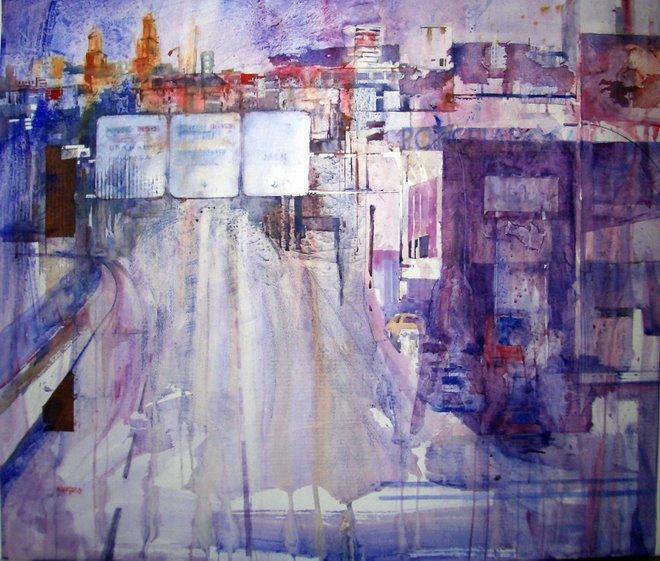 """-Primer premio  de acuarela en la IX Bienal de Pintura """"Luis Aldehuela"""" en Andujar."""