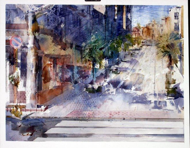 """-Primer premio  """"Luis María Janer"""" en el IV concurso Nacional de Pintura Rápida Ciudad de la Carol"""