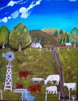 Ranch scene by Cleona Allen