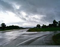 Rainy highway near Elkton, KY