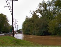 Flooded creek in Elkton, KY