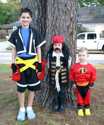 Sora, Captain Jack, and Mr. Incredible